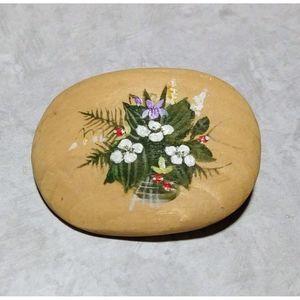 Vintage Wood Flower Pin